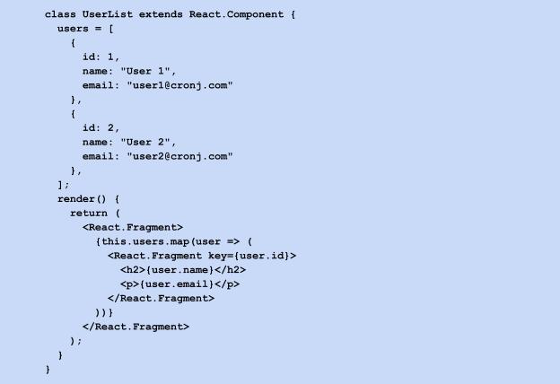 class userlist extends react component