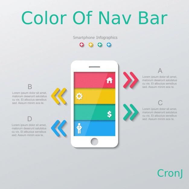 Ui design tipp for color of navigation bar
