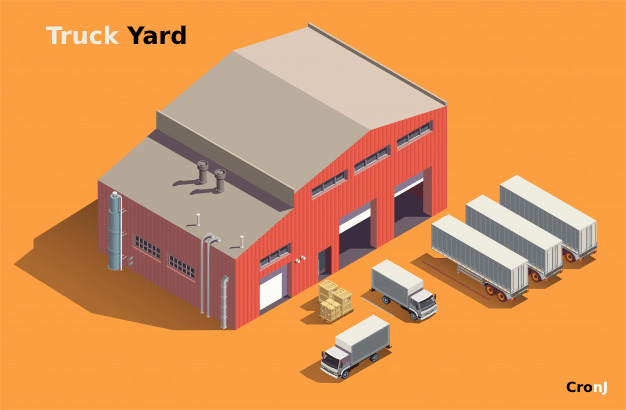 truck yard for truck management systems
